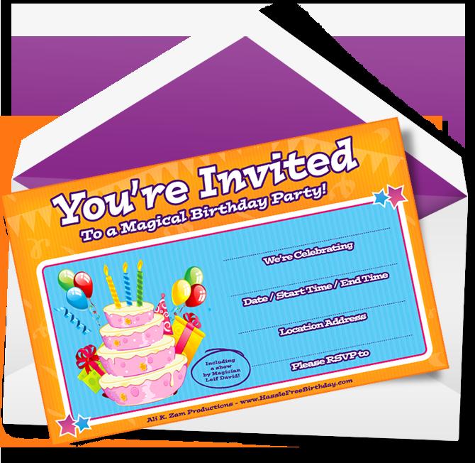 Free birthday party invitations kelowna kids birthday party horizontal birthday party invitation filmwisefo Choice Image