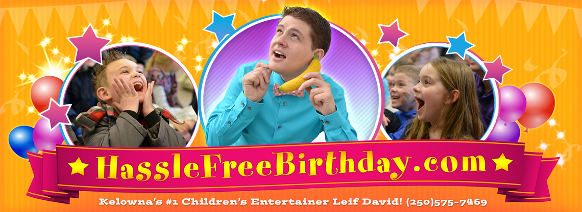 Kelowna Kids Birthday Party Magician Leif David Logo
